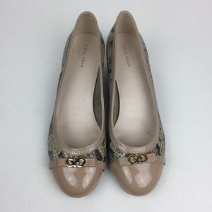 Cole Haan Wedge Pumps Size 9 B Snake Print